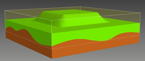 The result of 3D geological modeling